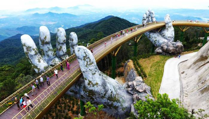 Golden Bridge in Ba Na Hills- Phong Nha Locals Travel